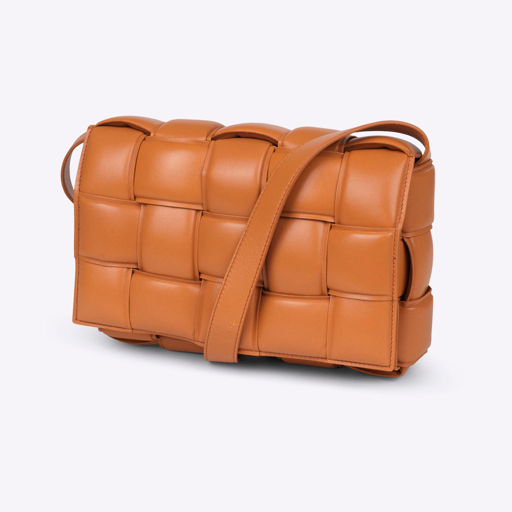 Bottega Veneta padded cassette - clay