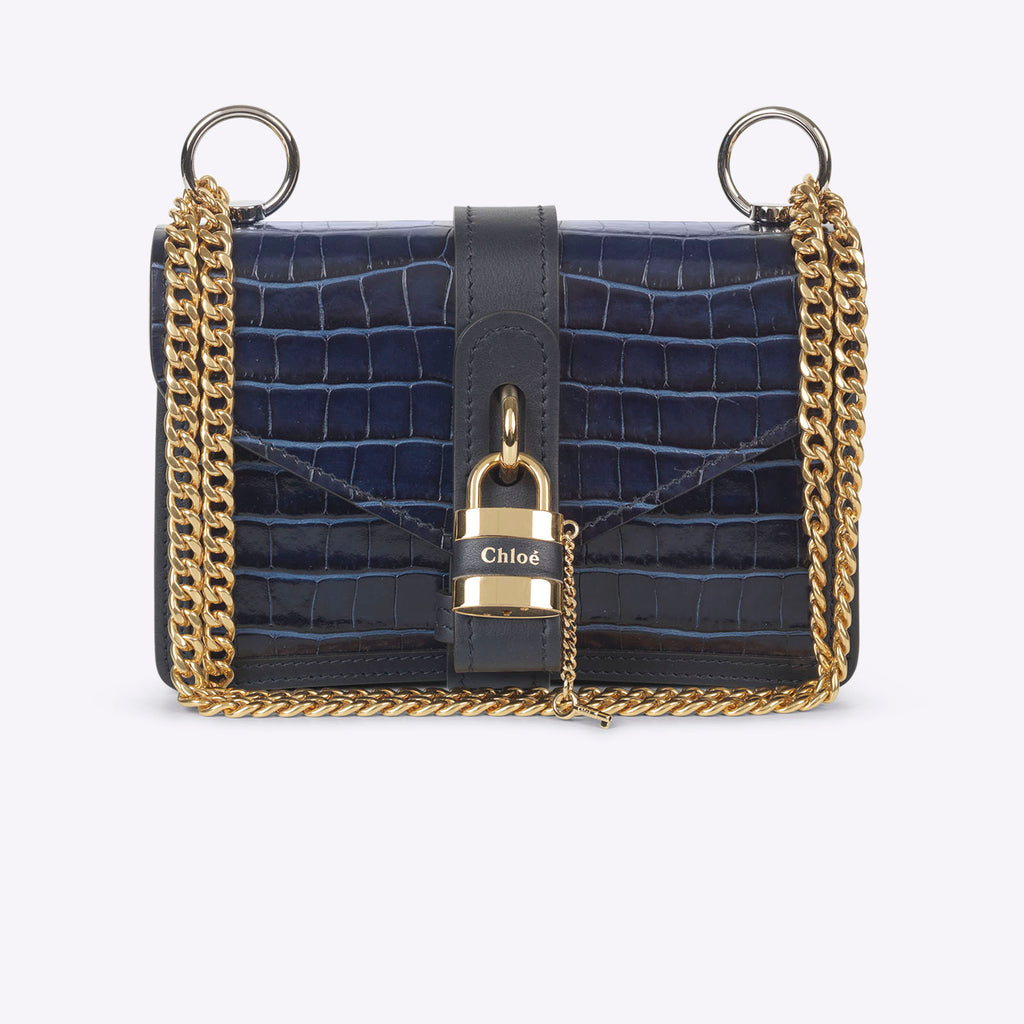 Chloé Aby Chain Shoulder Bag - Full Blue