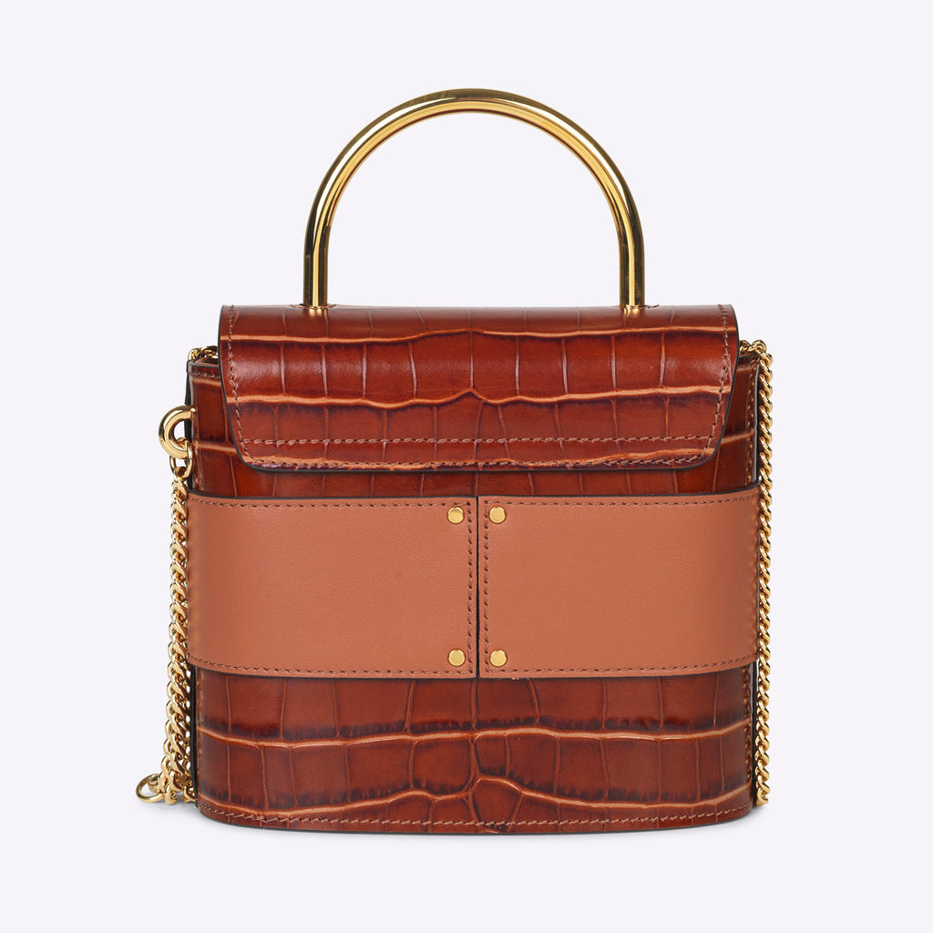 Chloé Small Aby Lock Chain Bag - Chestnut Brown