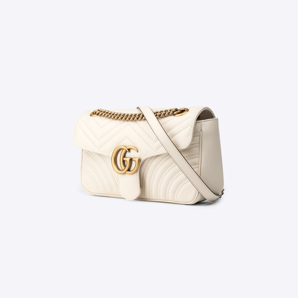 GG Marmont small shoulder bag White