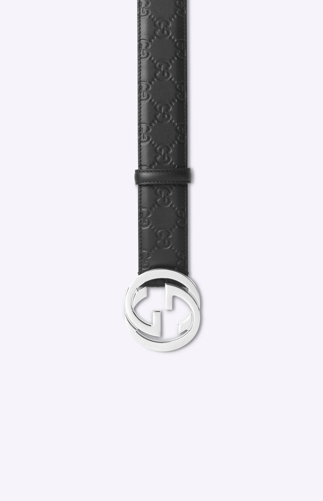 Gucci Signature leather belt - Black