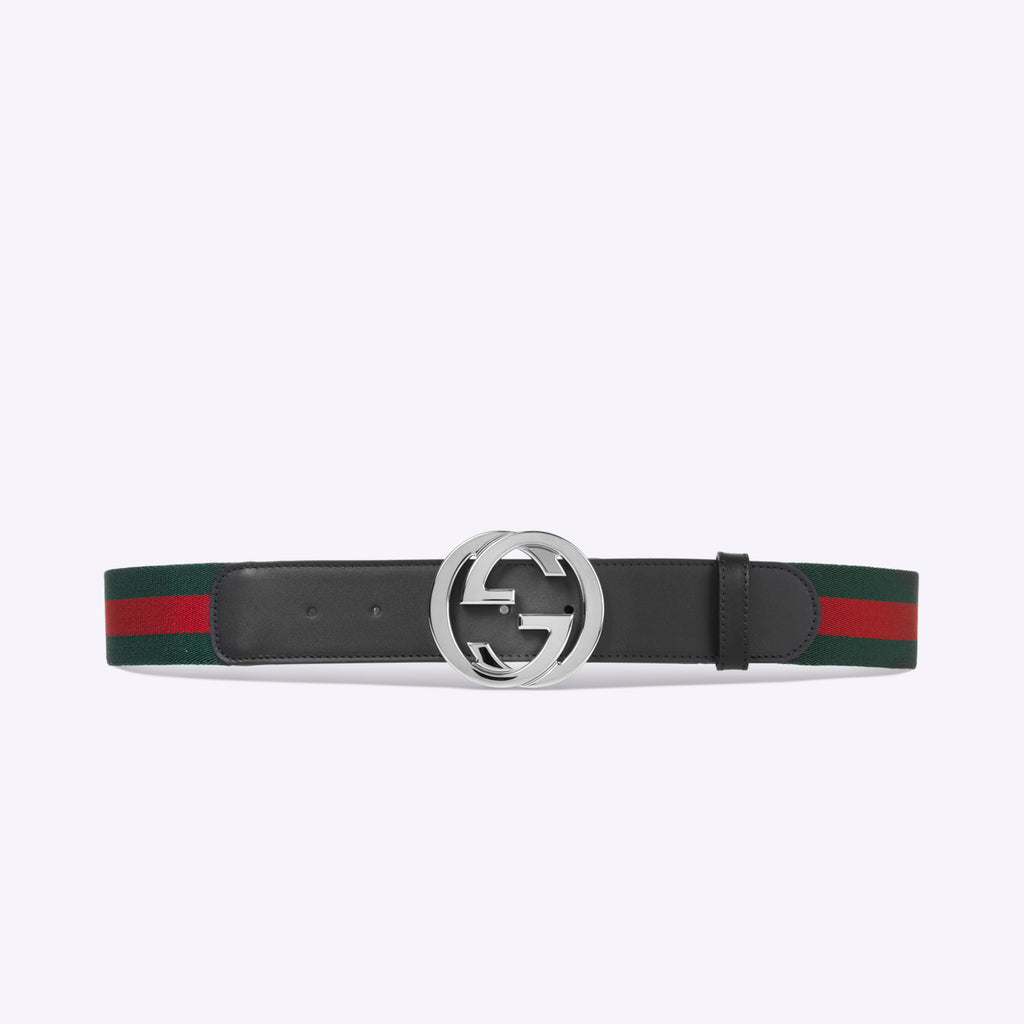 Gucci Web belt with G buckle - Black web