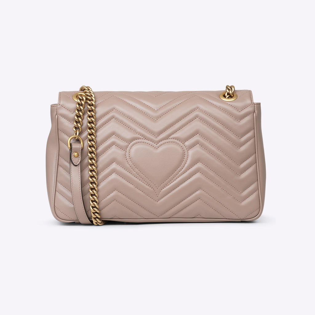 Gucci GG Marmont matelassé shoulder bag - dusty pink leather