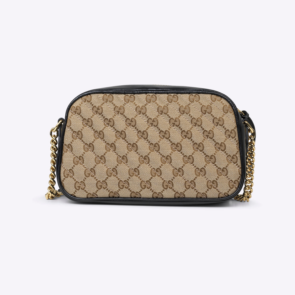 Gucci GG Marmont small shoulder bag - beige ebony