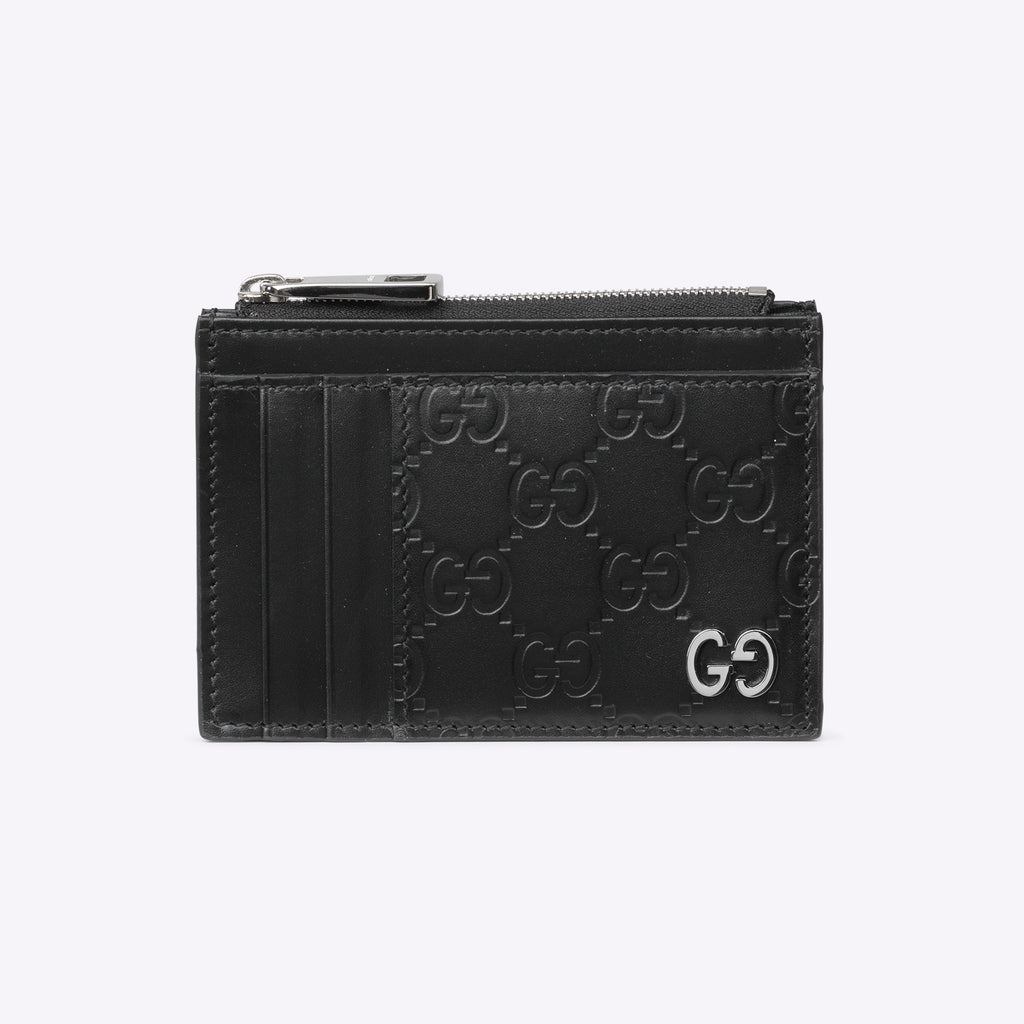 Gucci GG Men's Signature Card Holder - black leather