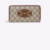 Gucci 1955 Horsebit Zip Around Wallet - beige ebony