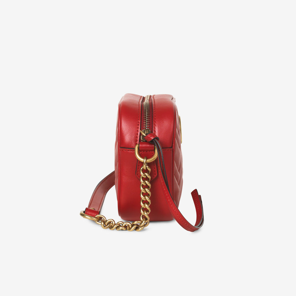 Gucci GG Marmont matelassé mini bag - Hibis red