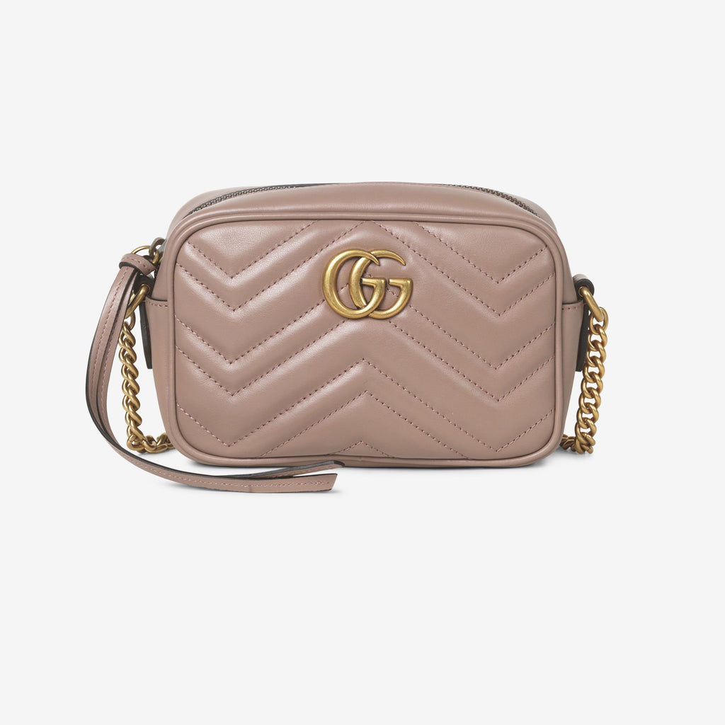 Gucci GG Marmont matelassé mini bag - Dusty pink