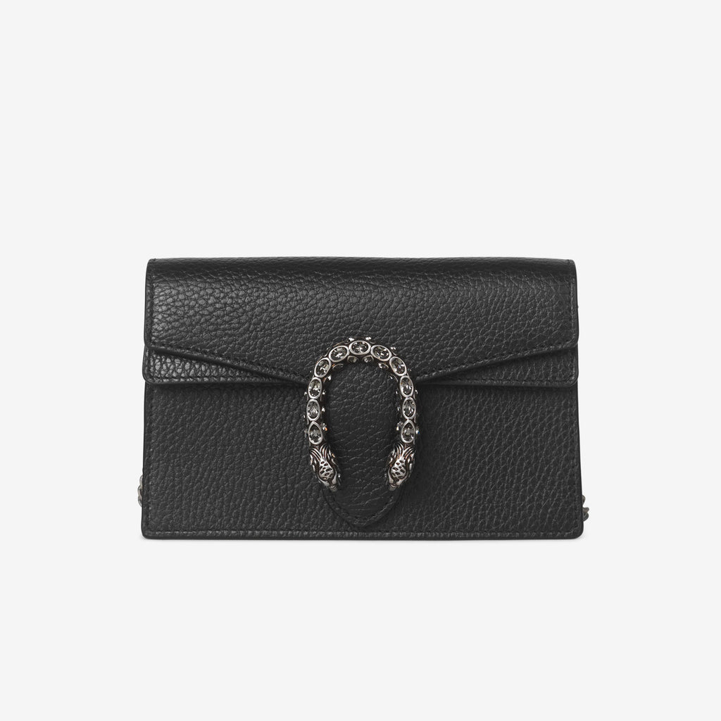 Gucci Dionysus leather super mini bag - Black