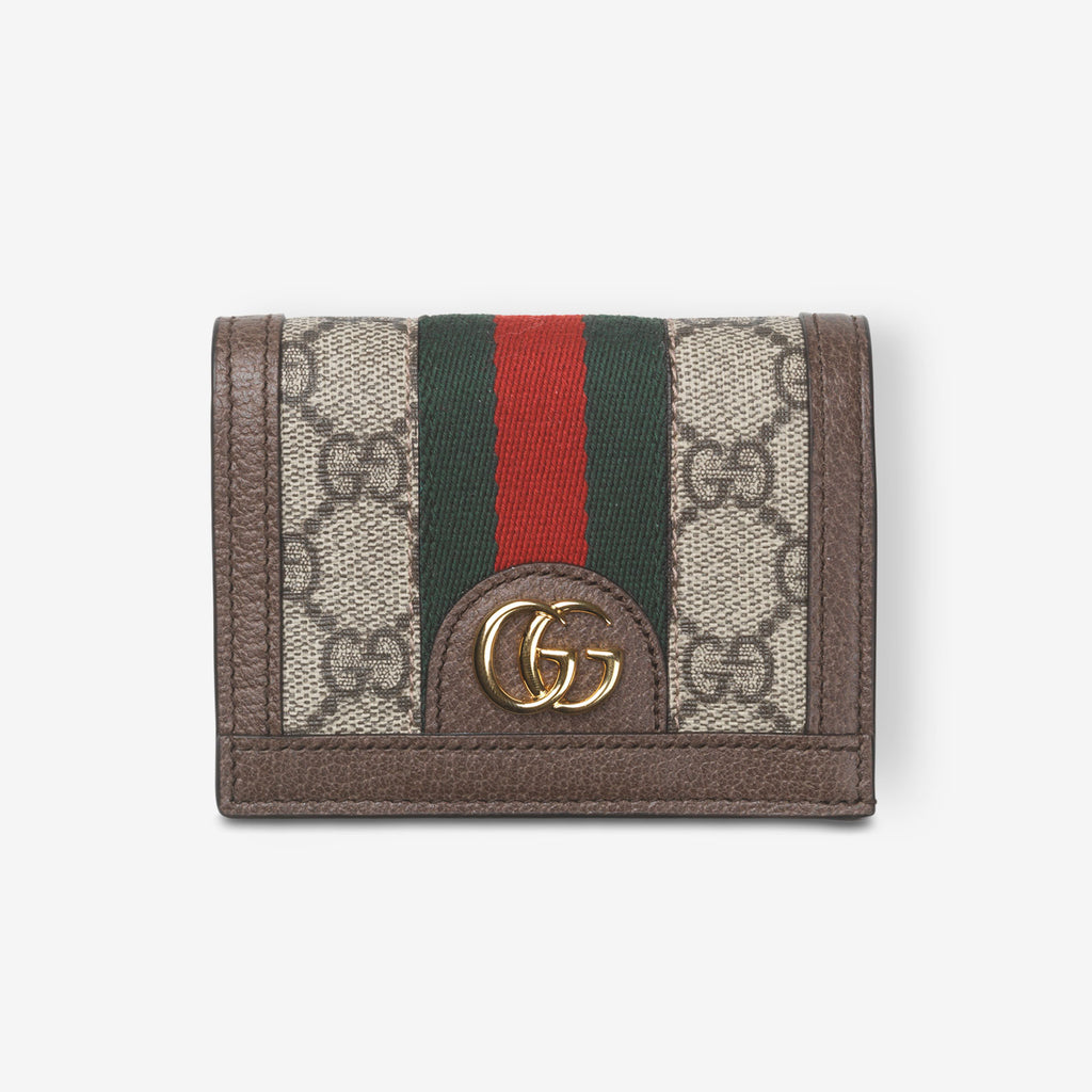 Gucci Ophidia GG card case wallet - Beige canvas