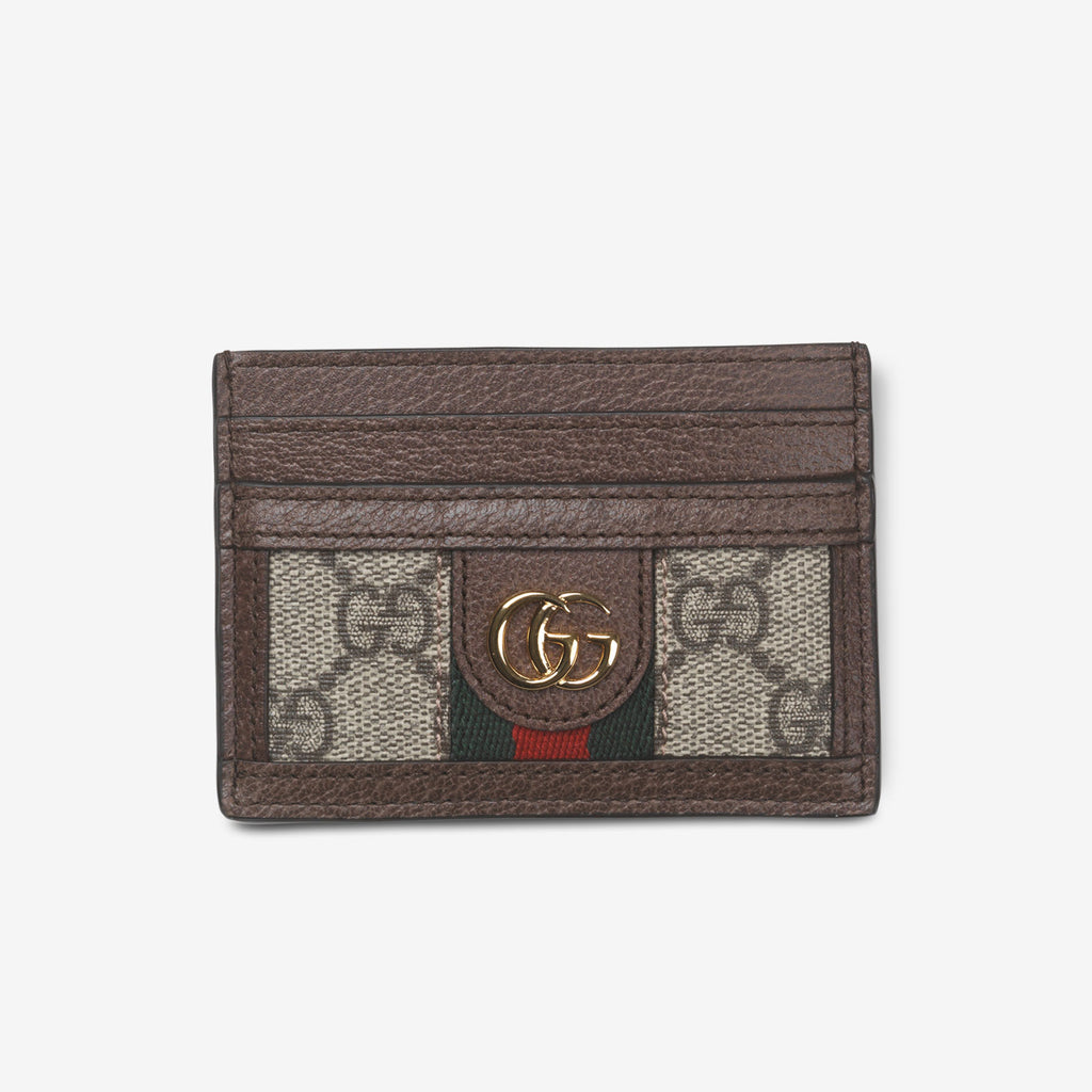 Gucci Ophidia GG card case - Beige canvas