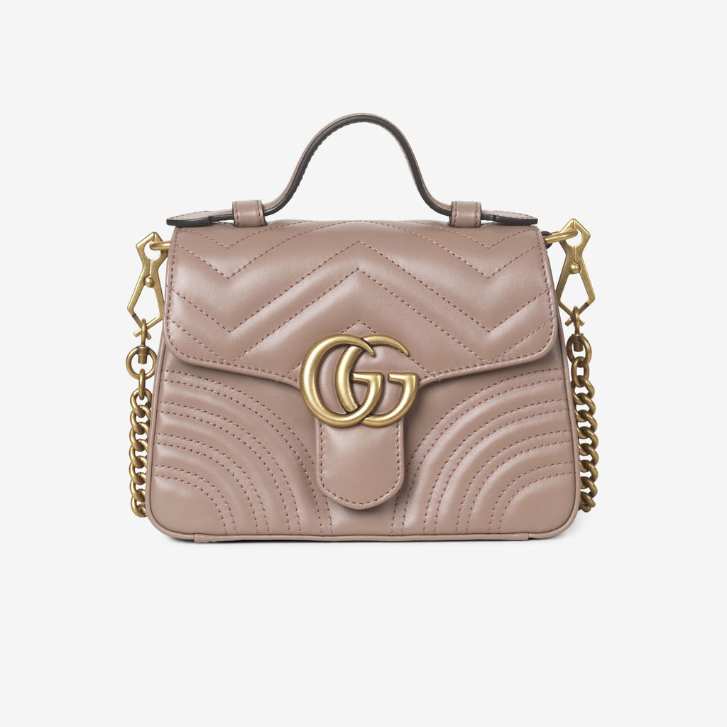 Gucci GG Marmont mini top handle bag - Dusty pink