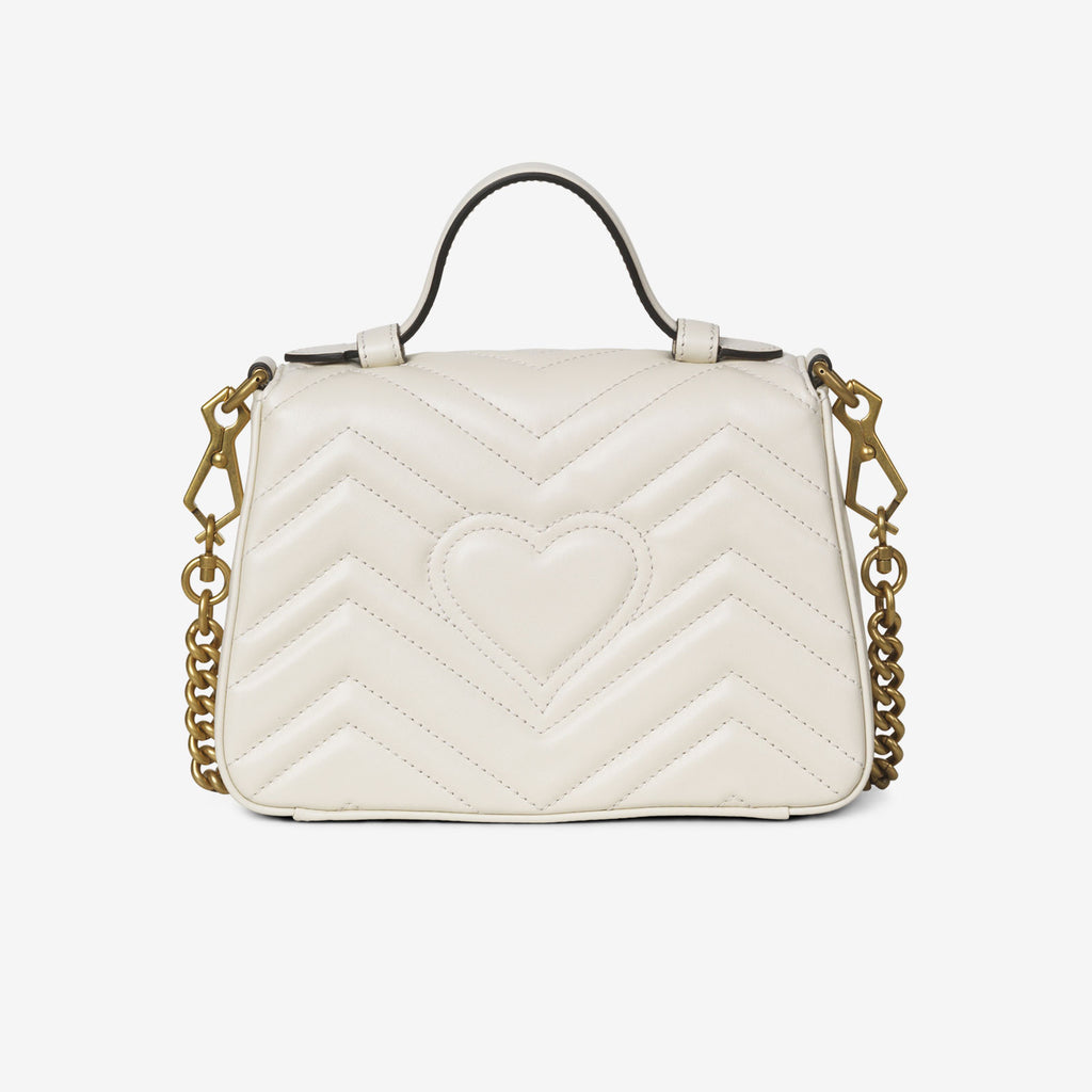 Gucci GG Marmont mini top handle bag - White