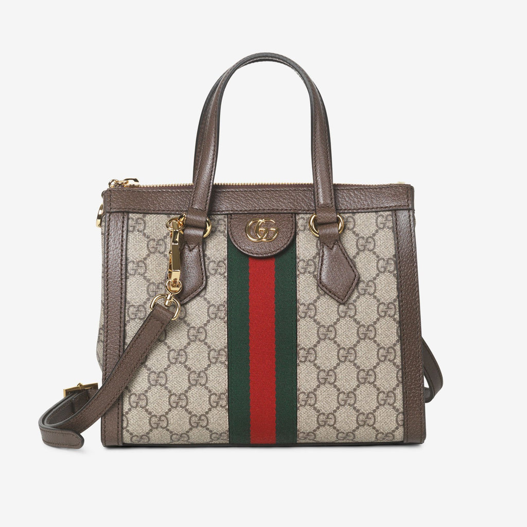 Gucci Ophidia small GG tote bag - Beige canvas