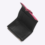Loewe Small Vertical Wallet In Soft Grained Calfskin - Wild Rose/Raspberry