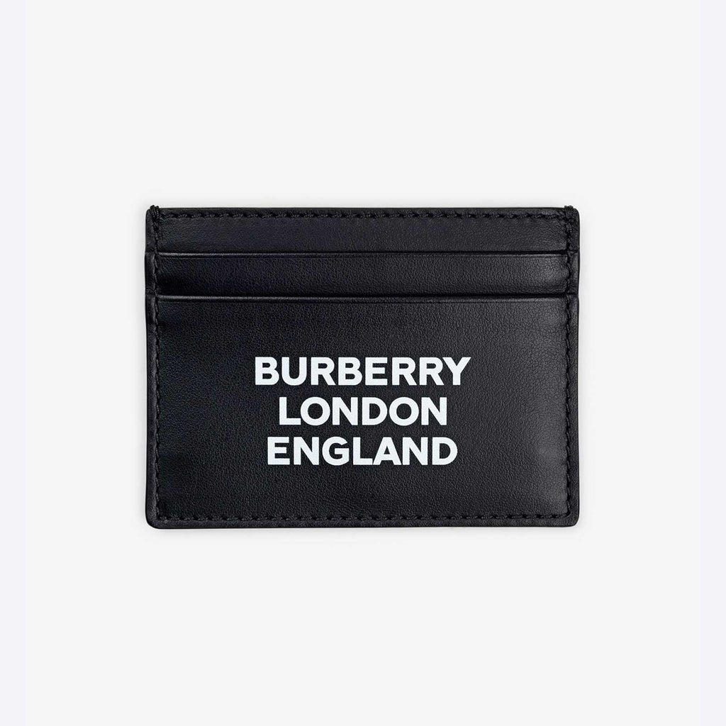 Logo Print Leather Card Case