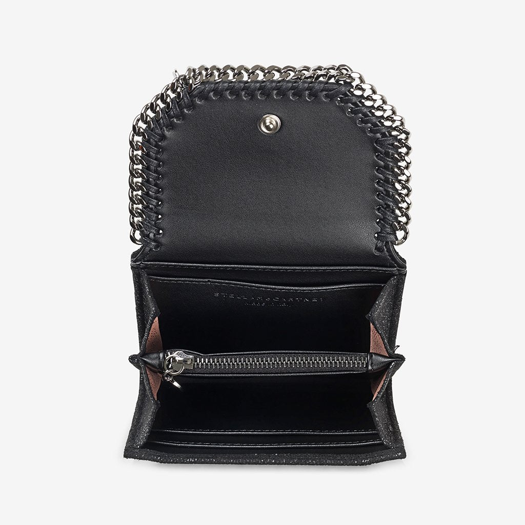 Small Flap Wallet Falabella - Black