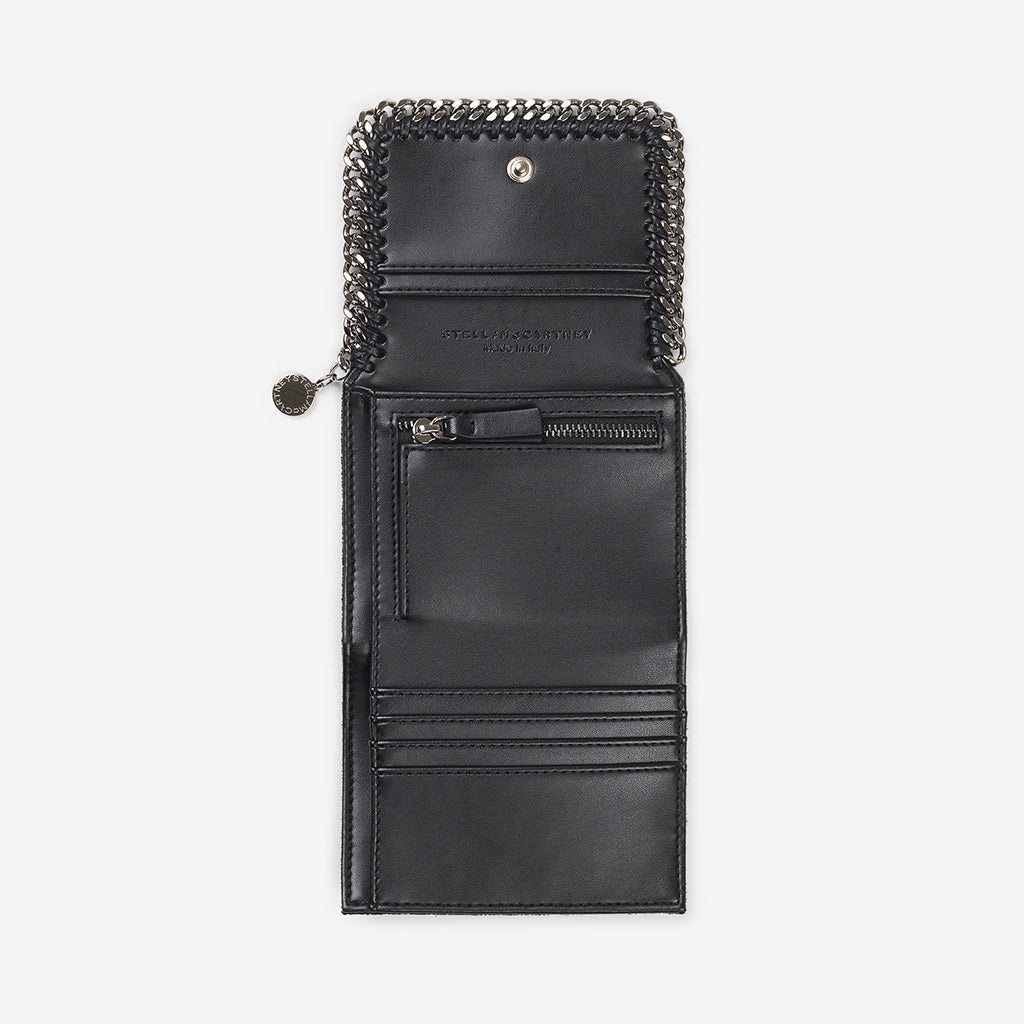 Small Flap Wallet Falabella-Black