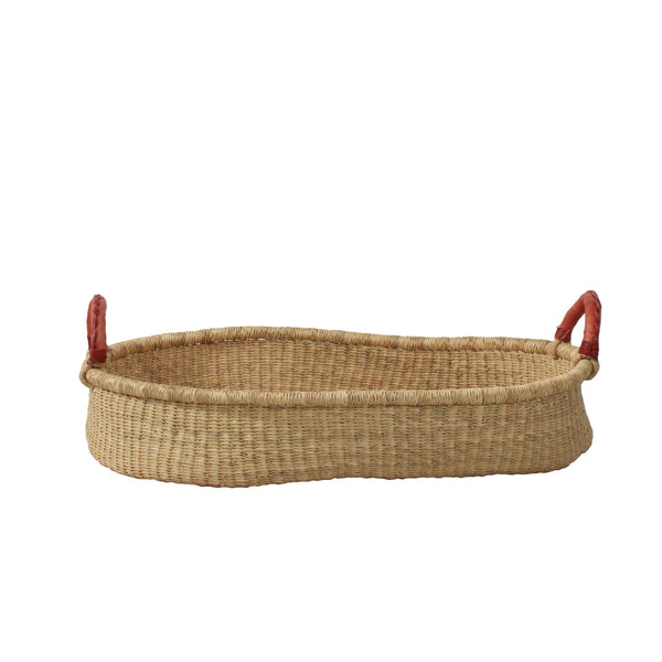 Ajani Natural Baby Changing Basket, Hand Woven African Baby Changing Baskets at Tobs and Ror