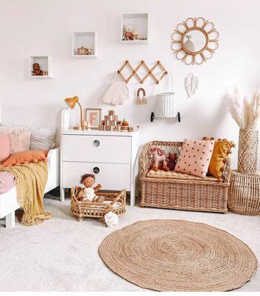 Bobby Kids Storage Bench, Kids Rattan Furniture and Storage
