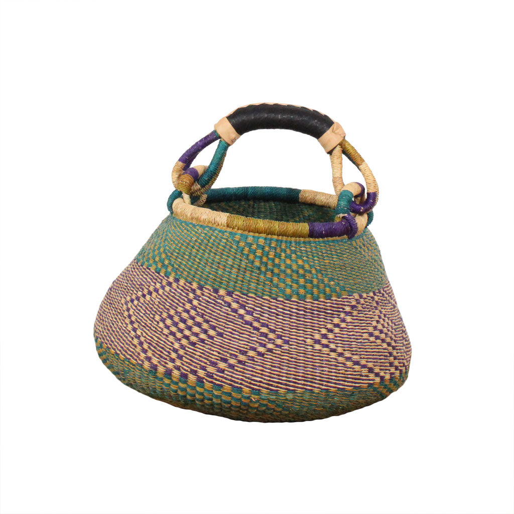 Large Handwoven African Pot Basket, Storage Baskets by Tobs and Ror