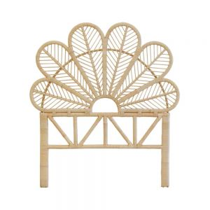 Daisy Rattan Wicker Headboard Single Natural - Tobs and Ror