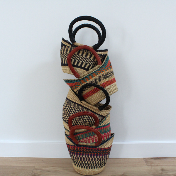 Willow Mini U-Shopper, Kids Handwoven African Play Baskets By Tobs and Ror