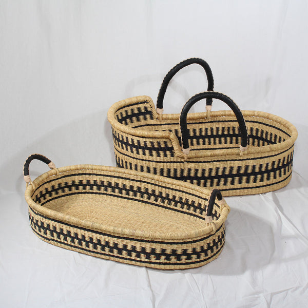 Jojo Mono Handwoven Baby Changing Basket, African Baby Baskets by Tobs and Ror