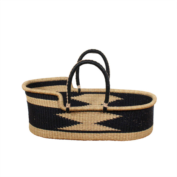 Luna hand woven african moses basket, natural eco friendly baby bassinets reduced at Tobs and Ror