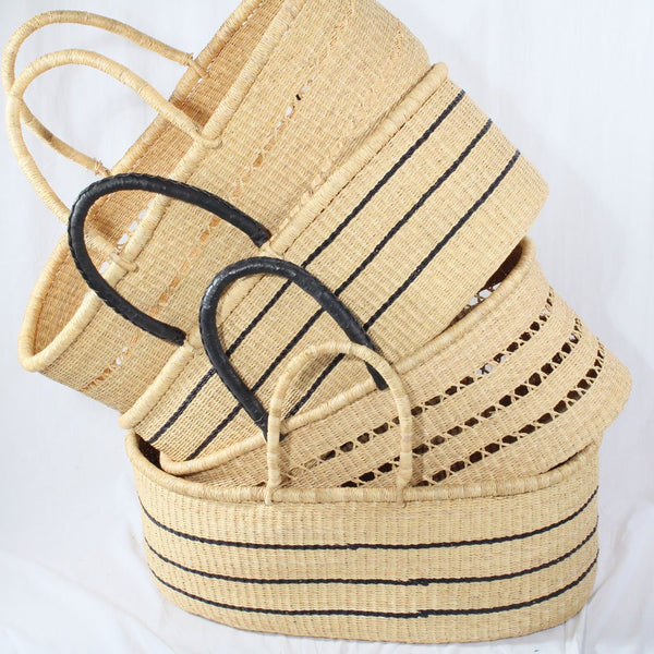 Ayla Vegan Handwoven Luxury Baby Moses Basket, African Moses Baskets by Tobs and Ror