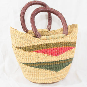 Rowan Mini U-Shopper, Kids Handwoven African Play Baskets By Tobs and Ror