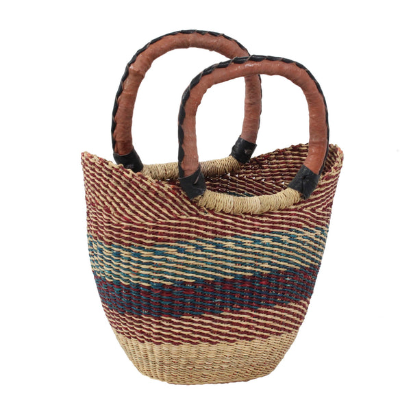 Pear Mini U-Shopper, Handwoven African Kids Play Baskets by Tobs and Ror