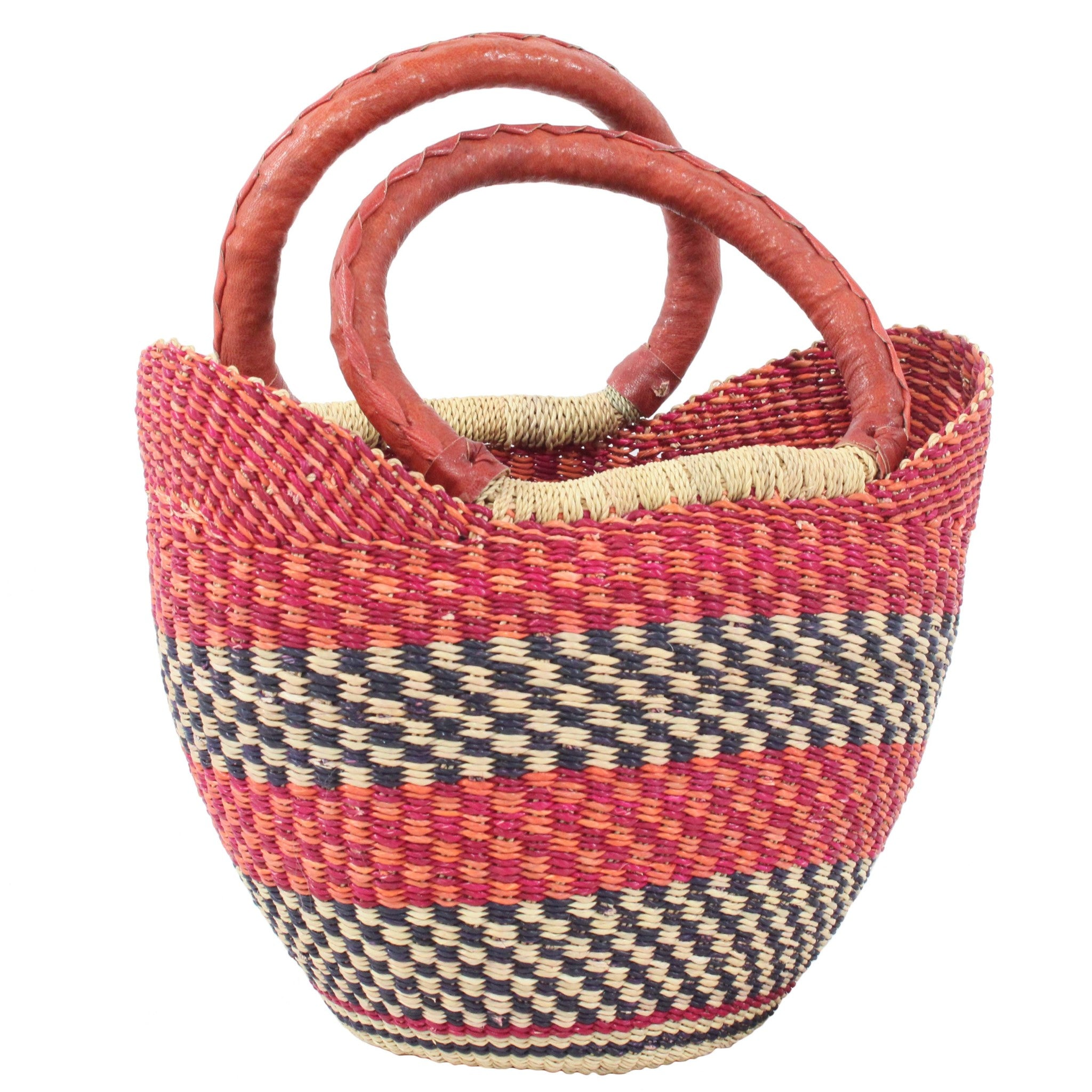 Cherry Mini U-Shopper, Handwoven African Kids Play Baskets by Tobs and Ror