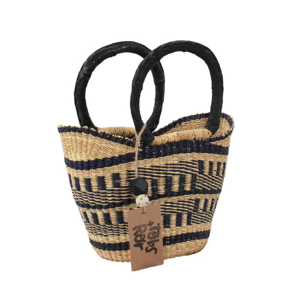 Zoe Mini U-Shopper, Handwoven African Kids Play Baskets by Tobs and Ror