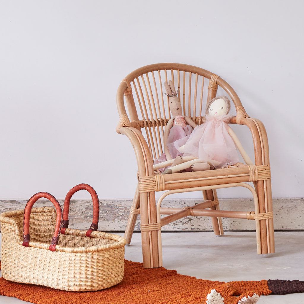 Kids Rattan Molly Chair, Kids rattan chair by Tobs and Ror