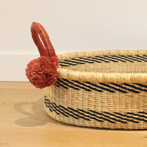 Nala handwoven baby changing basket