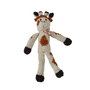 Gerry Giraffe Organic Wool Hand Knitted Teddies, Kenana Knitters at Tobs and Ror