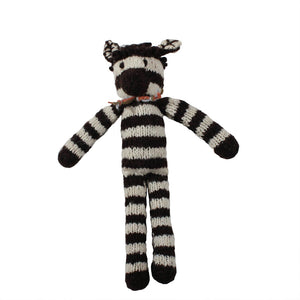 Zelma Zebra Organic Wool Hand Knitted Teddies, Kenana Knitters at Tobs and Ror