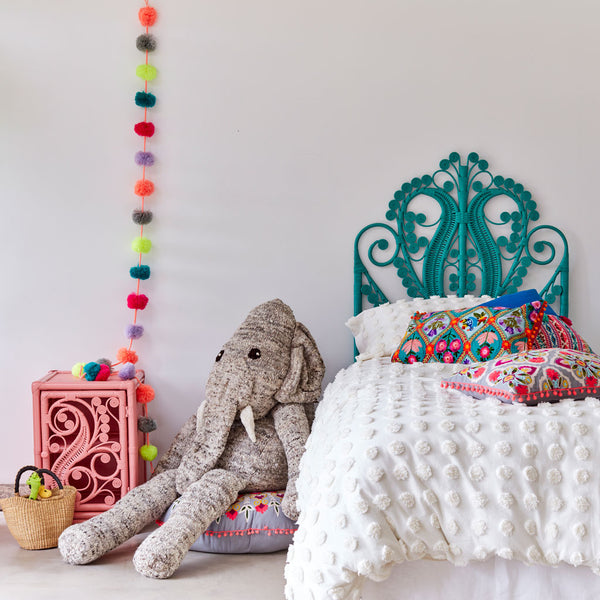 Elba Elephant Organic Wool Hand Knitted Giant Floor Cushion Teddies, Kenana Knitters at Tobs and Ror
