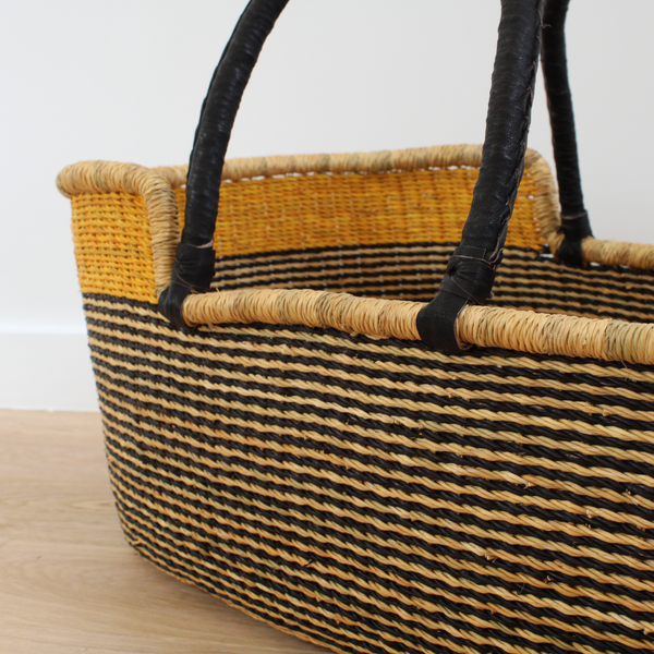 Simba Natural Moses Basket, African Handwoven Moses Baskets by Tobs and Ror