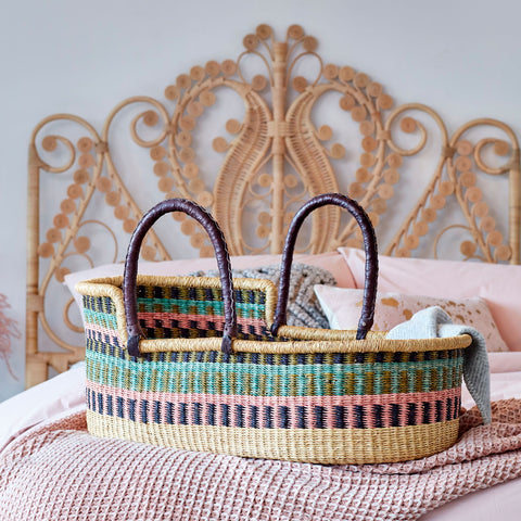 Sisi Moses Basket, African Handwoven Moses Baskets by Tobs and Ror