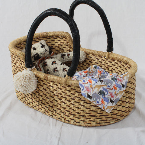 Tabby Mini Me Dolls Moses Basket, Play Baskets by Tobs and Ror