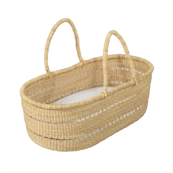 Willow Handwoven Luxury Baby Moses Basket, African Moses Baskets by Tobs and Ror