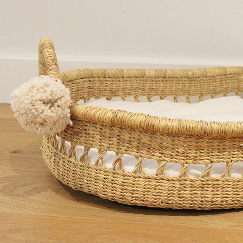 willow vegan handwoven baby changing basket