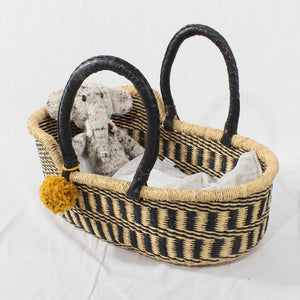 Zebra Mini Me Dolls Moses Basket, Play Baskets by Tobs and Ror