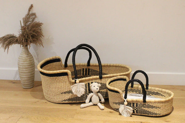 Mini Me Malaika Handwoven Dolls Moses Basket, Dolls Beds by Tobs and Ror