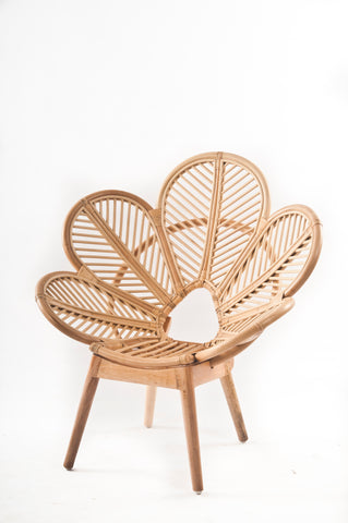 Kids Rattan Petal Chair, Kids rattan chair by Tobs and Ror