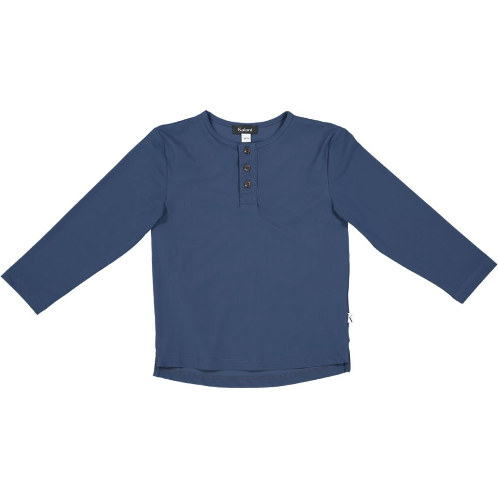 Henley UV Top Blue