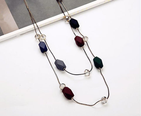 Elegance Pendant Long Double Sweater Chain
