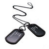 Image of New Arrival Military Black 2 Dog Tag Pendant